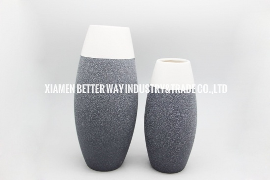 Bottle gray porcelain vases